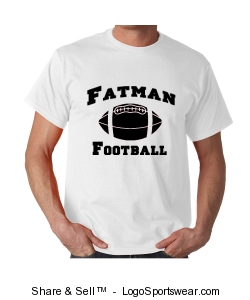 Offical 2009 Fatman Football T-shirt  - White shirt with Black font design Design Zoom